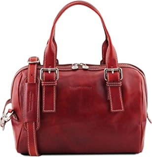 Tuscany Leather Eveline Leather Duffle Bag - TL141714 (Red)