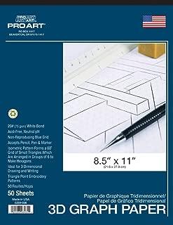 Pro Art Isometric Pad, 8.5 x 11