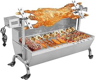 TG888 Heavy Duty Stainless Steel Hog Roast Machine BBQ Spit Roaster 132 LBS Rotisserie Grill Roasting 110V Motor
