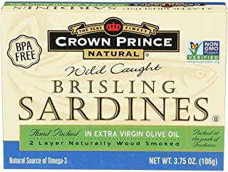 Brisling Sardines in Olive Oil 3.75 Ounces (Case of 12)