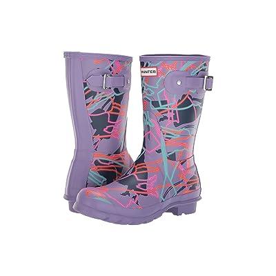 Hunter Disney Mary Poppins Original Short Rain Boots (Parma Violet Bright Camo Print) Women