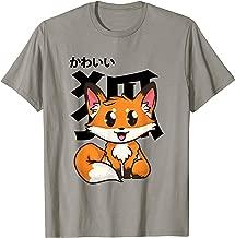 Kawaii Fox Shirt Girls Japanese Gift Boys Anime Manga Style T-Shirt