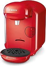 Bosch TAS1403 Tassimo Vivy 2, Cafetera automática de cápsulas, diseño compacto, 1300 W, color rojo