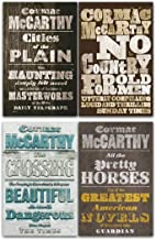Border Trilogy Series Collection 4 Books Set By Cormac McCarthy (All The Pretty Horses, Cities of the Plain, No Country fo...
