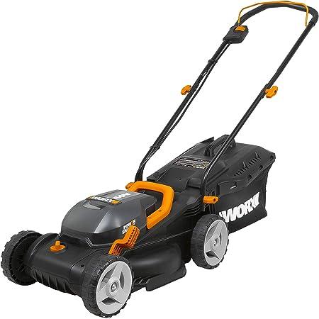 "WORX WG779 40V Power Share 4.0 Ah 14"" Lawn Mower w/ Mulching & Intellicut (2x20V Batteries)"
