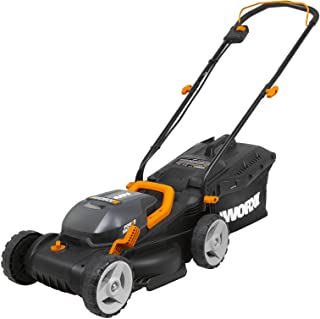 "WORX WG779 40V Power Share 4.0 Ah 14"" Lawn Mower w/Mulching & Intellicut (2x20V Batteries)"
