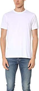 Vince Men's Favorite Pima Cotton Short-Sleeve Crew-Neck T-Shirt, Optic White, Medium