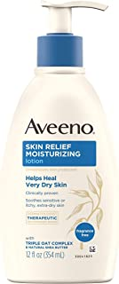 Aveeno Skin Relief 24-Hour Moisturizing Lotion for Sensitive Skin with Natural Shea Butter & Triple Oat Complex, Unscented...