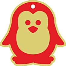 PrintValue Baby Penguin Printed Hang Tag DIY Craft Art Supply Hanging Tag Birthday Party, Kids Party Events, Thanksgiving and Festival-Roma Red and Colombo Cream, 100 Pcs