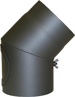 Kamino - Flam – Codo con válvula para chimenea de leña,