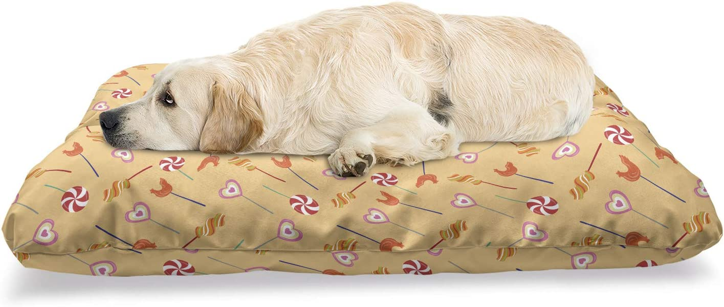 Ambesonne Cartoon Pet Bed Funny Rooster Heart Spirals Shape Outlet sale feature and Max 86% OFF