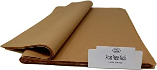 Kraft Acid-Free Tissue Paper - 96 Sheets - 15 Inch x 20 Inch –Acid-Free & Buffering Provide Long-Term Protection - Premium Quality Made in United States