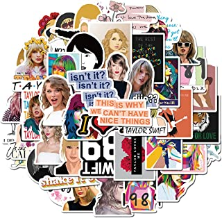 Singer Taylor Alison Swift Stickers 50PCS for Laptop and Water Bottles,Waterproof Durable Trendy Vinyl Laptop Decal Sticke...