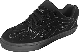 Sha Sha Shoe Suede SK8 Flame Black Black 10