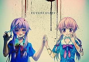 XXW Artwork Mirai Nikki Redial Poster Future Diary/Gasai Yuno/Aru Akise Prints Wall Decor Wallpaper (20x14 inch)