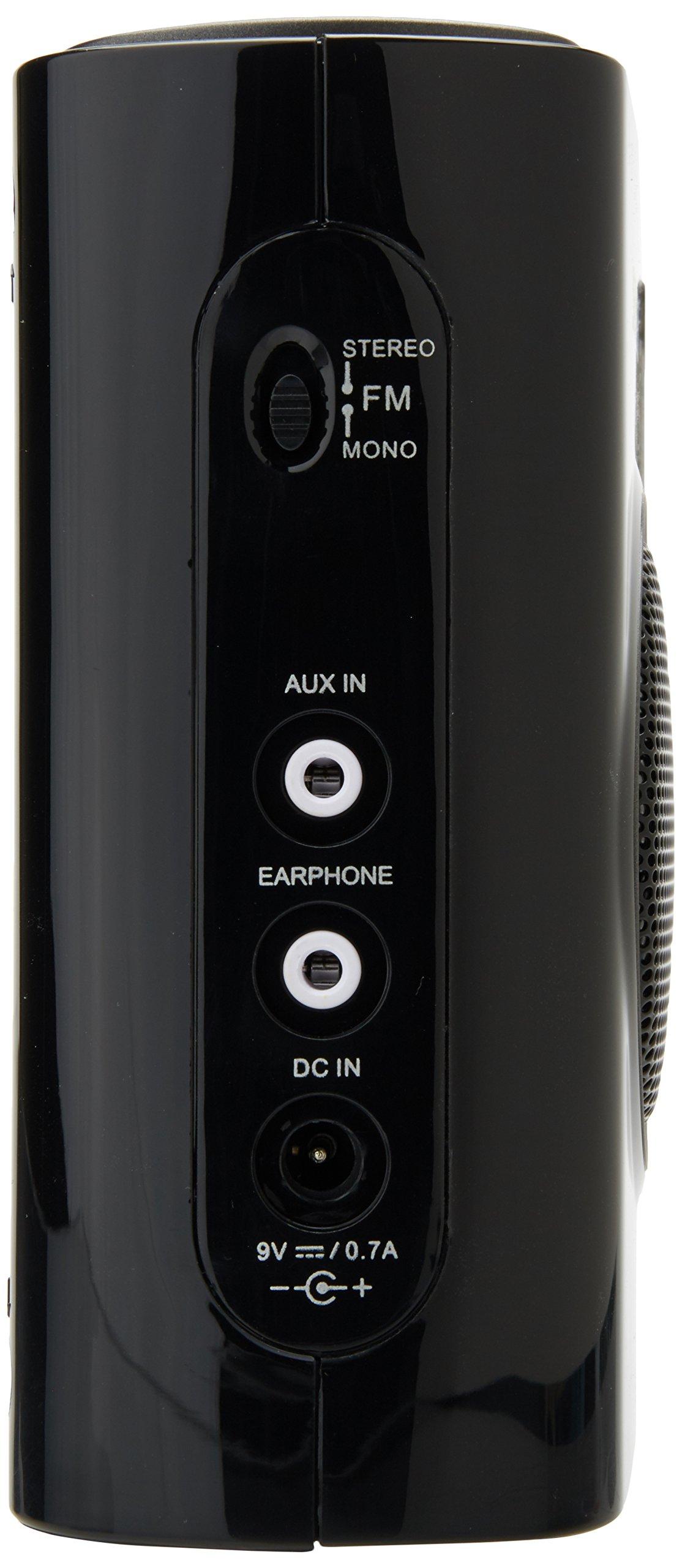 Sangean PR-D5BK AM/FM Portable Radio with Digital Tuning and RDS (Black)