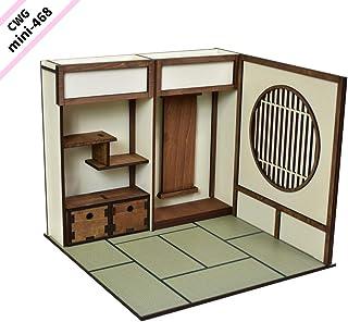 CWGmini-0468 CountryWoodGarden ドールハウス ミニチュア 1/10スケール 【和室 右側・丸窓】ドールハウス単品販売