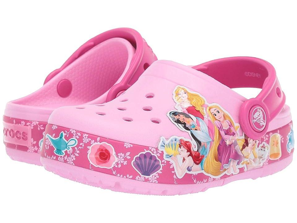 Crocs Kids CrocsFunLab Princess Band Light Clog (Toddler/Little Kid) (Carnation) Girls Shoes