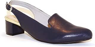 Hype Women's Heeled Slingback Closed Toe Sandal ZD10999 (Brittany)