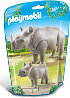 Playmobil 6638 Rhino With Baby - Multi Color