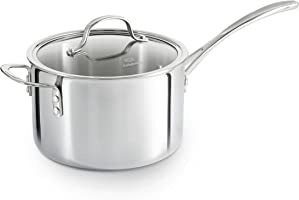 Calphalon Tri-Ply Stainless Steel Cookware, Sauce Pan, 4 1/2-quart