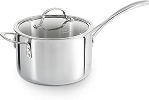 Calphalon Tri-Ply Stainless Steel Cookware, Sauce Pan, 4 1/2-quart