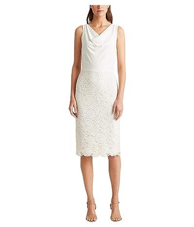 LAUREN Ralph Lauren Aditianna Dress (Matte Ivory) Women