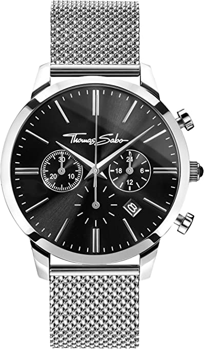 THOMAS SABO Men's TWA0245 Year-Round Analog Quartz Silver Watch