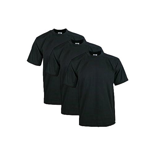 8ec3cb291 Pro Club Men's 3-Pack Heavyweight Cotton Short Sleeve Crew Neck T-Shirt