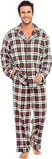 Men's Lightweight Flannel Pajamas, Long Cotton Pj Set