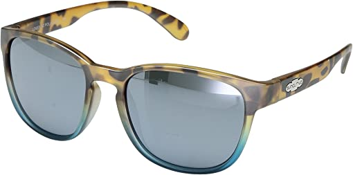 Mt Tortoise Blue Fade/Polarized Silver Mirror Polycarbonate Lens