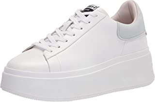 ASH womens Moby Sneaker, White/Blue, 11 US