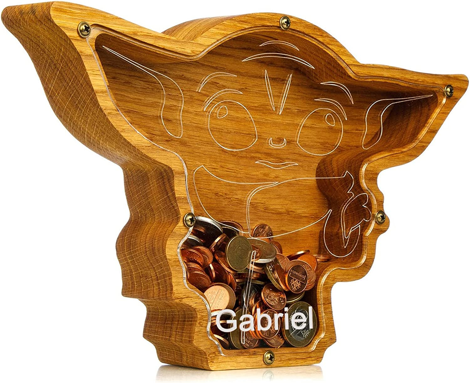 Wood Piggy Oakland Mall Bank Personalized Popular products Ba Coin Animals Custom