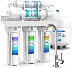 SimPure Reverse Osmosis Water Filtration System T1-5 Stage Under Sink RO Water Filter - NSF Certified Membrane - 75 GPD Ca...