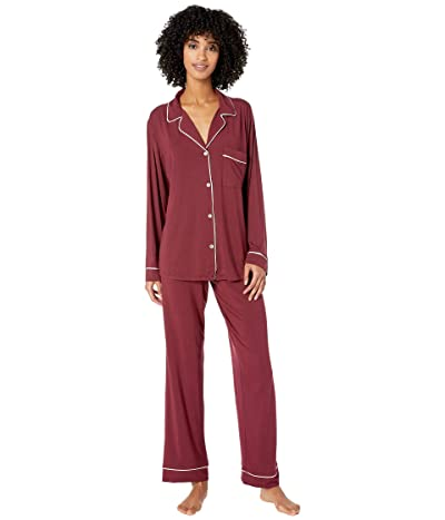 Eberjey Gisele Basics PJ Set (Port/Ivory) Women