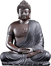 Shakyamuni Buddha Statue, Bodhi Tathagata Feng Shui Ornaments Ceramic Amitabha Living Room Home Decoration