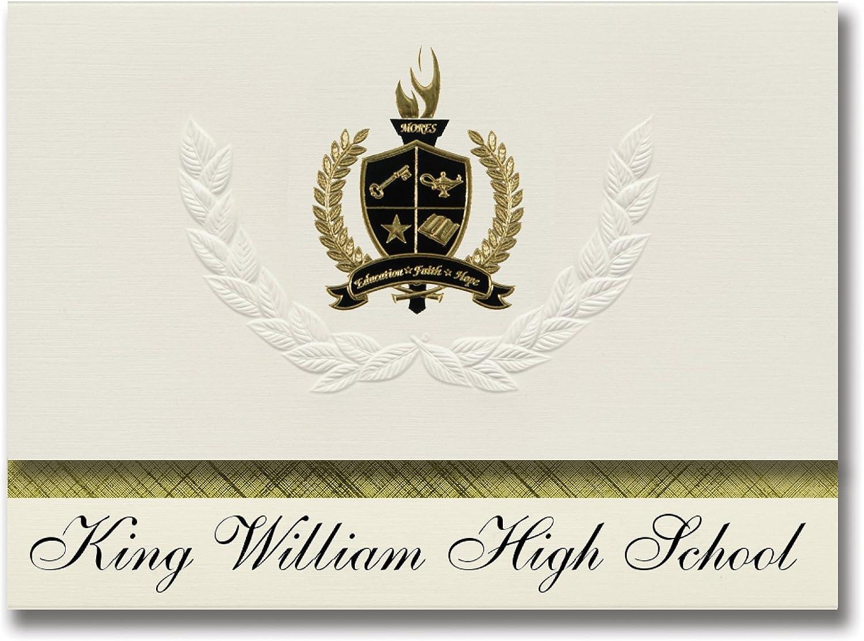 Signature Announcements King William William William High School (King William, VA) Abschlussankündigungen, Präsidential-Stil, Grundpaket mit 25 Goldfarbenen und schwarzen metallischen Folienversiegelungen B0795W874F   Attraktive Mode  7fc2fd