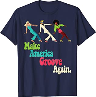 MAGA Make America Groove Again Retro 1970s Style T-Shirt