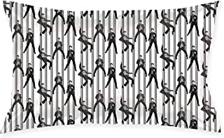 SKYISOK Elvis Prison Rock Pillowcases Decorative Pillow Covers Soft and Cozy, Standard Size 20