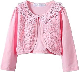 Girls Long Sleeve Bolero Cardigan Cotton Short Shrugs Jacket for Little Girls Hot Dress Cover up