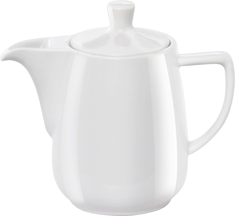 Melitta Jarra de Porcelana para Café Pour Over, Tapa Superior, Asa Lateral, 0,6 Litros, Blanco