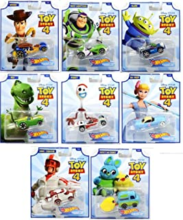 Hot Wheels Toy Story 4 - Complete Set of 8 Collectible