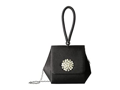 Jessica McClintock Honey Flap (Black) Handbags
