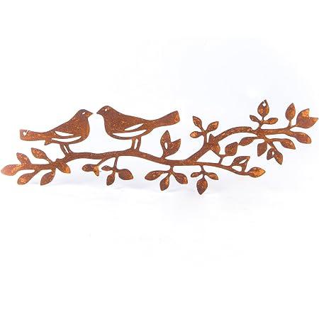 brnache oiseau volant patine foret m/étal rouille d/écoration rouille figurine animaux figurine de jardin en m/étal aspect rouill/é