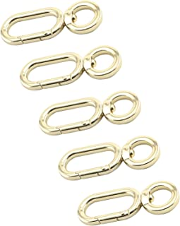 Youliang 5pcs Metal Lobster Claw Clasps Swivel Lanyards Trigger 360 Degree Rotatable 8 Shaped Snap Hooks for Bag Hardware Fittings