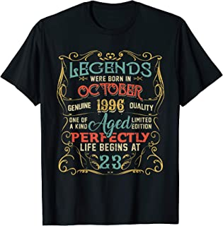 Legends Born In OCTOBER 1996 23rd Birthday Gifts T-Shirt