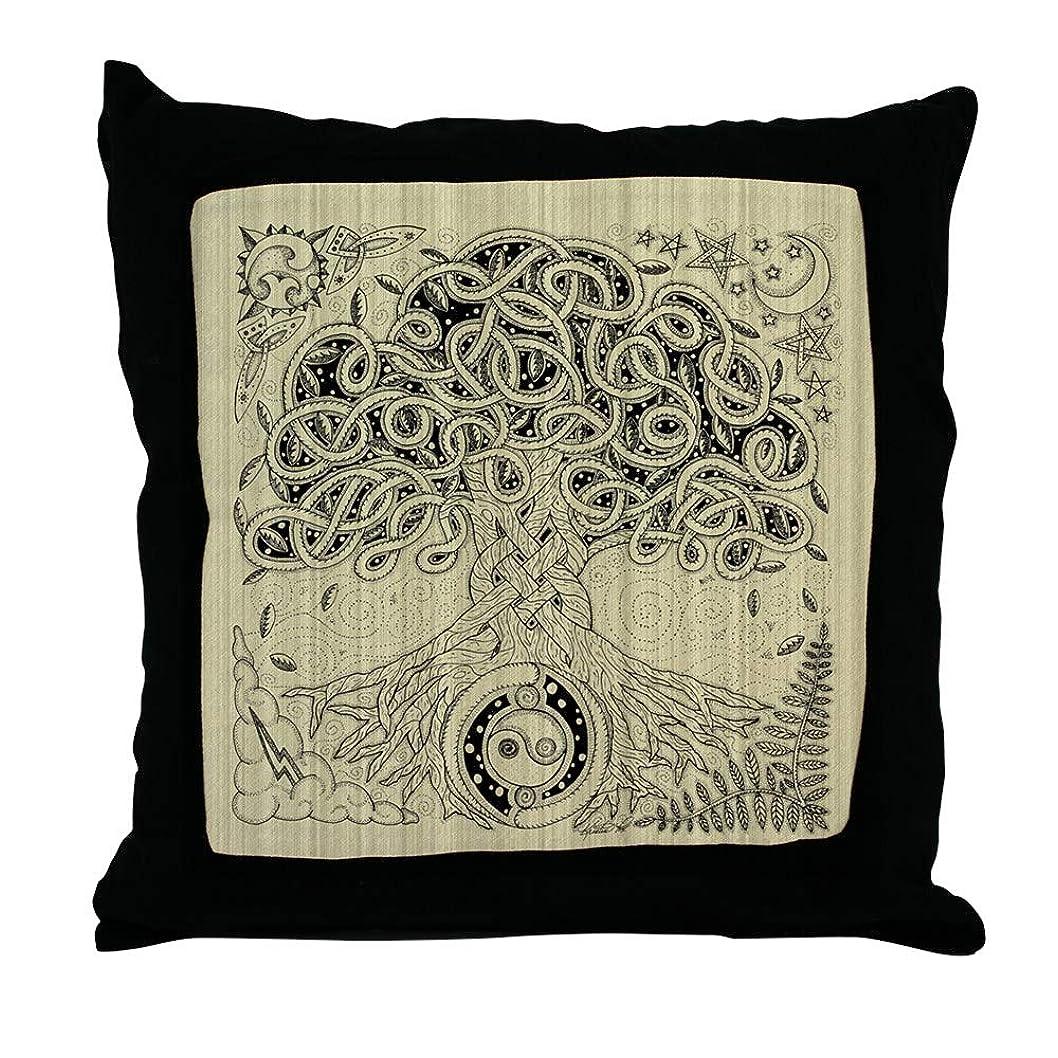 不愉快シフトわざわざCafePress?–?Celtic Tree of Lifeインク?–?スロー枕、装飾アクセント枕 Cover Only ホワイト 0607044040C9767