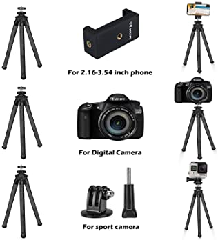 for Compact Digital Cameras and Camcorders Samsung WB550 Digital Camera Tripod Flexible Small Tripod Approx 9 H