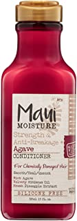 OGX, Maui Moisture Strength AntiBreakage + Moisturizing Agave Conditioner for Color Treated or Chemically Damaged Hair Veg...