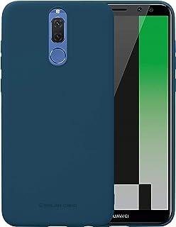 جراب خلفي ناعم من السيليكون المرن غير اللامع من Huawei Mate 10 Lite Molan Cano - أزرق داكن